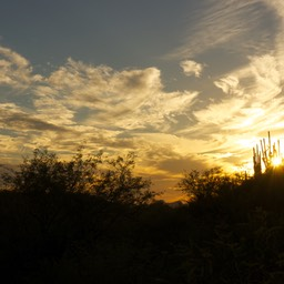 Zonsondergang in Catalina State park
