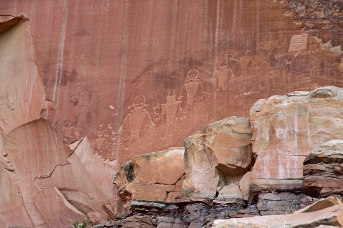 Petroglyphe in Capitol Reef national park