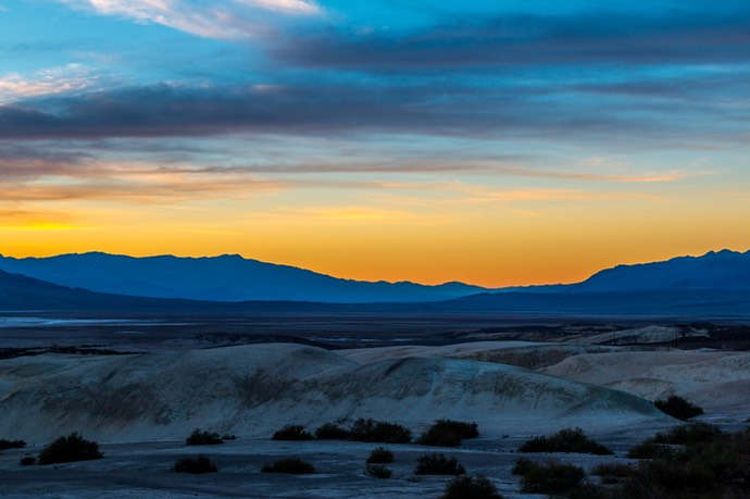 Zonsondergang in Death Valley